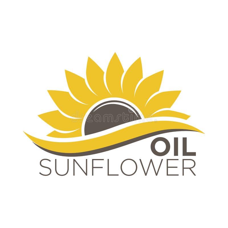 Bunter Aufkleber mit gelber Blume, schwarze nährende Samen, Aufkleberdesign stock abbildung