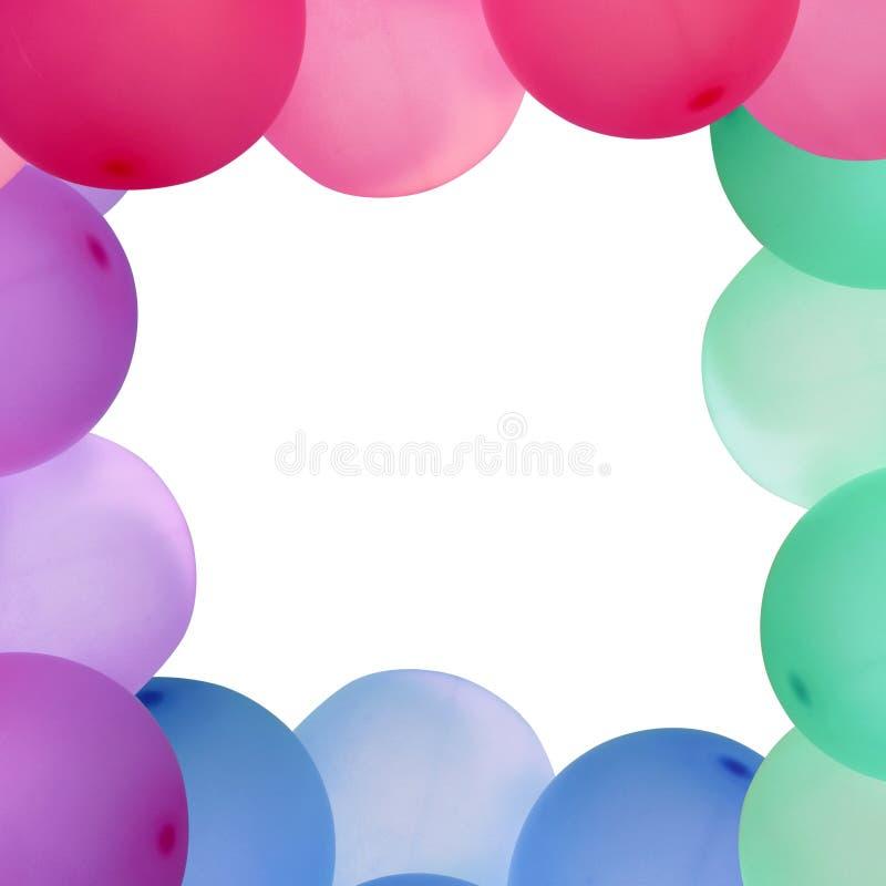 Bunter Ballonrahmen Mit Weißem Leerem Raum Stockfoto - Bild von blau ...