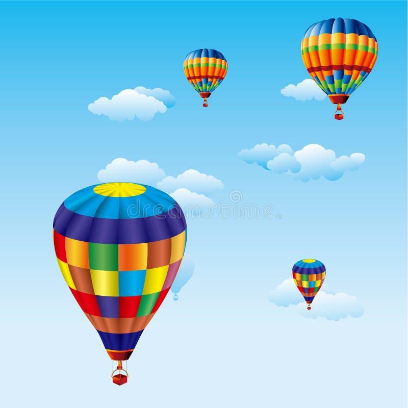 Bunter Ballonvektor lizenzfreie abbildung