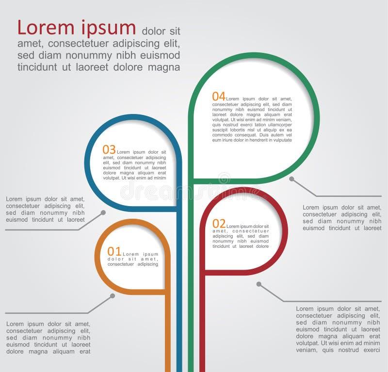 Bunter Baum des Konzeptes für Geschäftsdesign stock abbildung