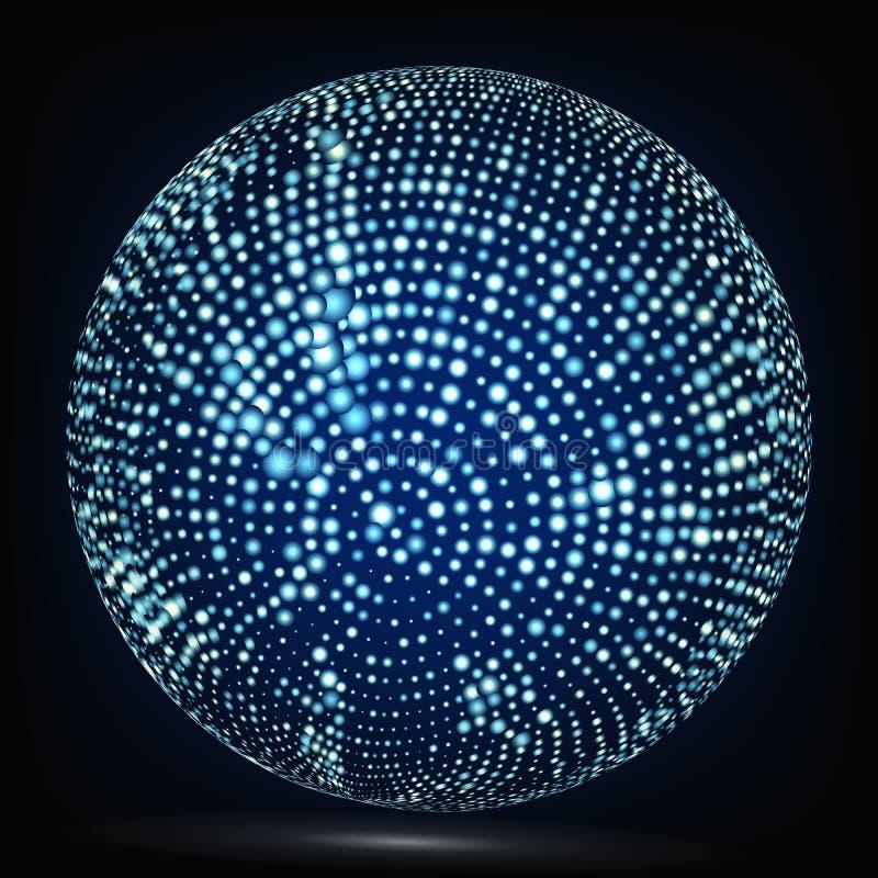 Bunter Bereich-Zusammensetzungs-Vektor Glühender abstrakter Hintergrund vektor abbildung