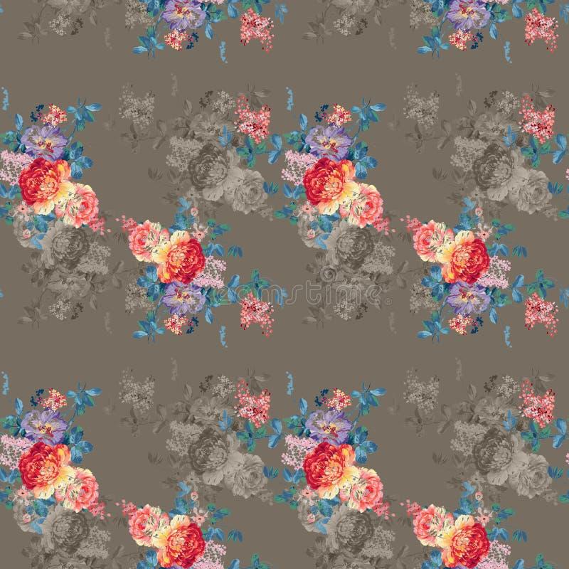 Bunter Blumenhintergrund Aquarell - Illustration vektor abbildung