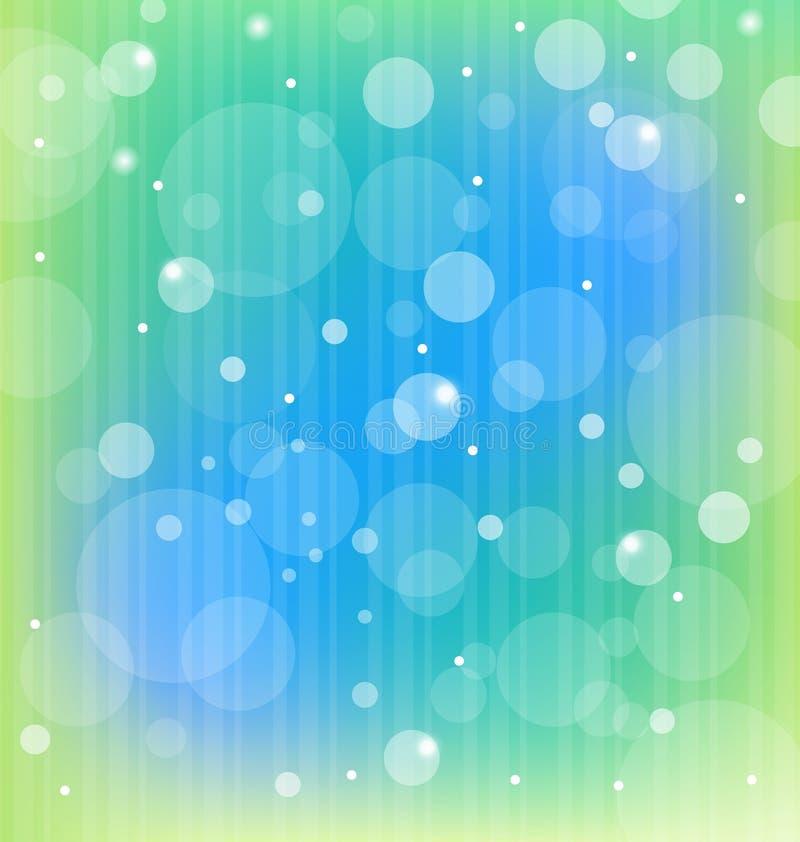 Bunter bokeh Auszugs-Leuchtehintergrund stock abbildung