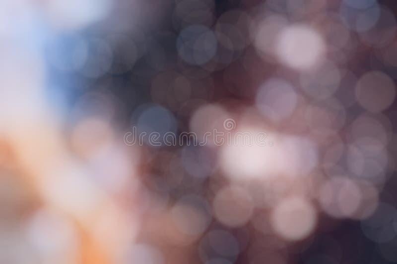 Bunter bokeh Hintergrund DEfocused Lichter von verschiedenen Farben stock abbildung