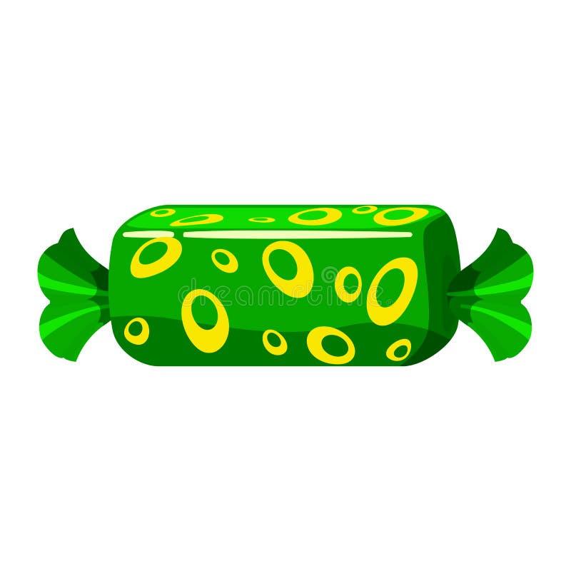 Bunter Bonbon der Süßigkeit Bonbonsüßigkeit in der helle Farbverpackenverpackung Zuckersüße Nahrungsmittelnachtisch-Karamellschok vektor abbildung