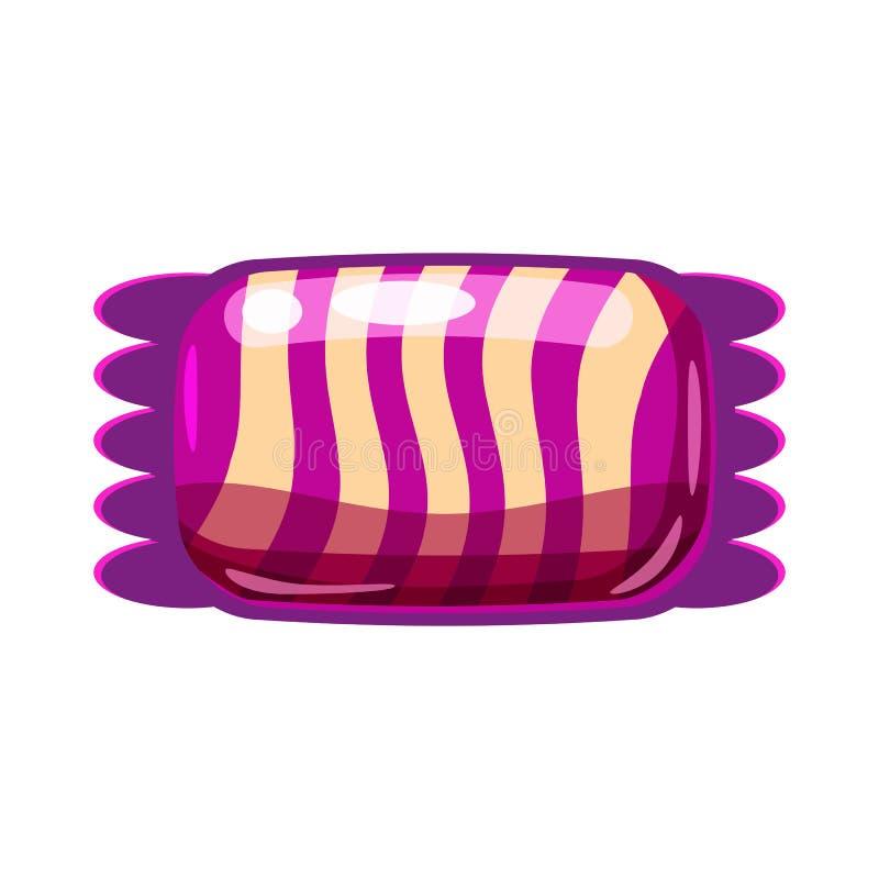 Bunter Bonbon der S??igkeit Bonbons??igkeit in der helle Farbverpackenverpackung Zuckers??e Nahrungsmittelnachtisch-Karamellschok vektor abbildung
