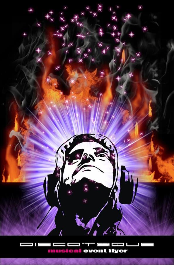 Bunter Burning-DJ-Hintergrund für Alternative DIS stock abbildung