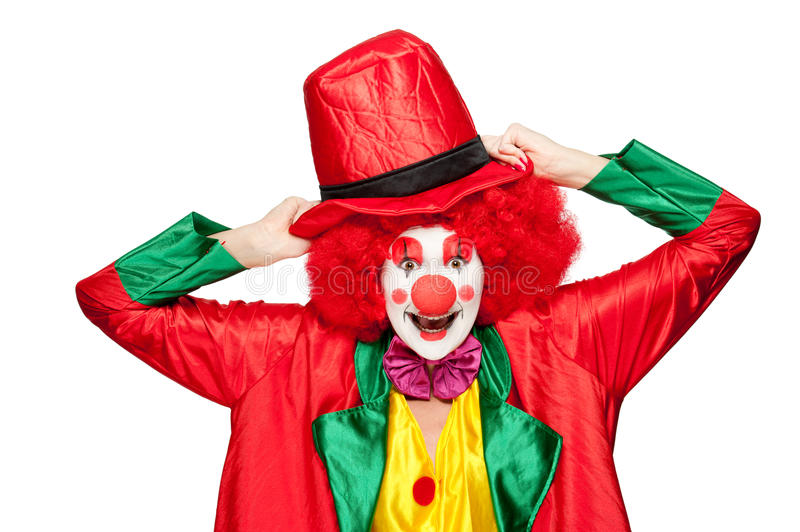 Bunter Clown lizenzfreie stockbilder