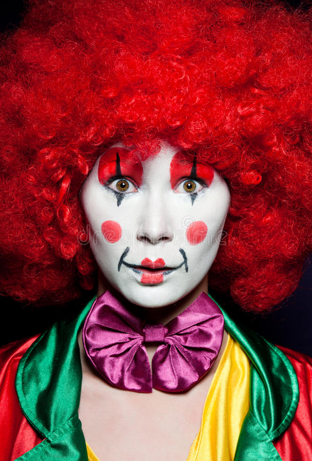 Bunter Clown lizenzfreies stockbild