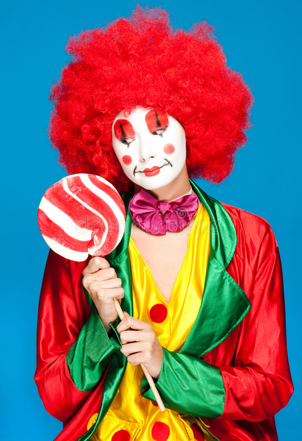 Bunter Clown lizenzfreies stockfoto