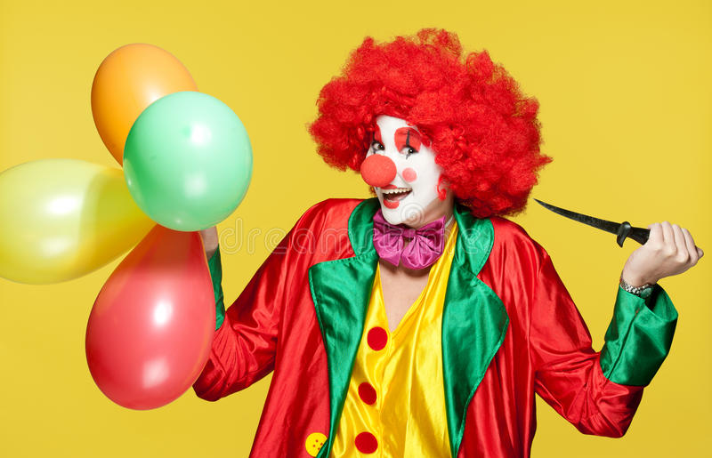 Bunter Clown stockfotografie