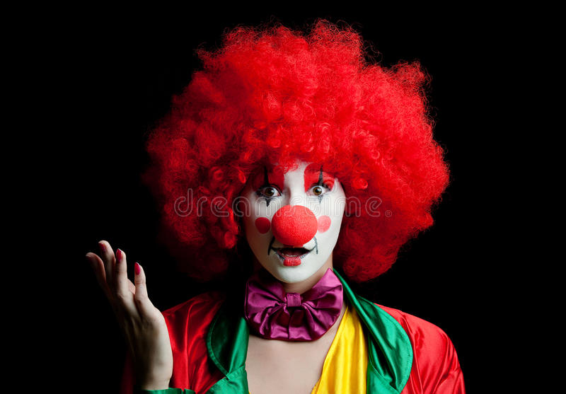 Bunter Clown stockbilder