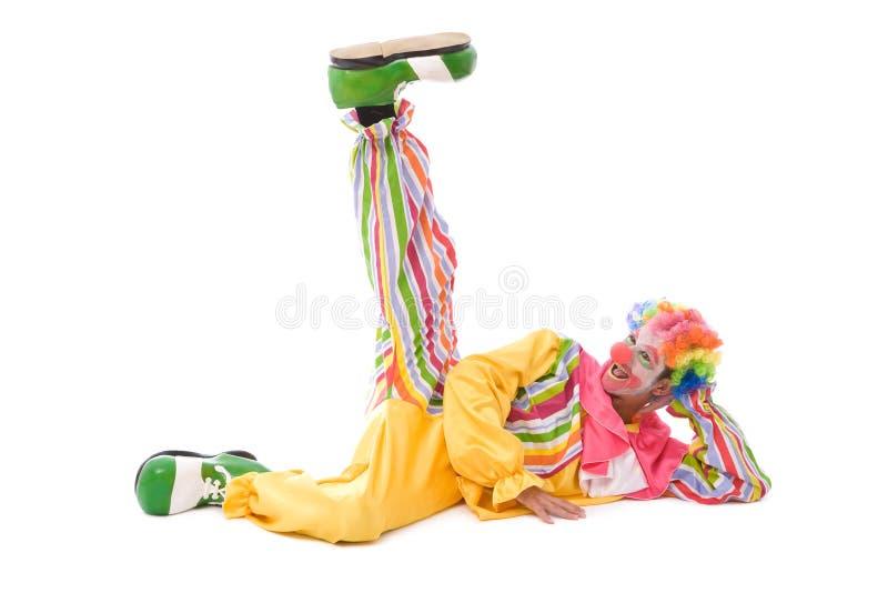 Bunter Clown, der ein Gesicht bildet lizenzfreies stockfoto