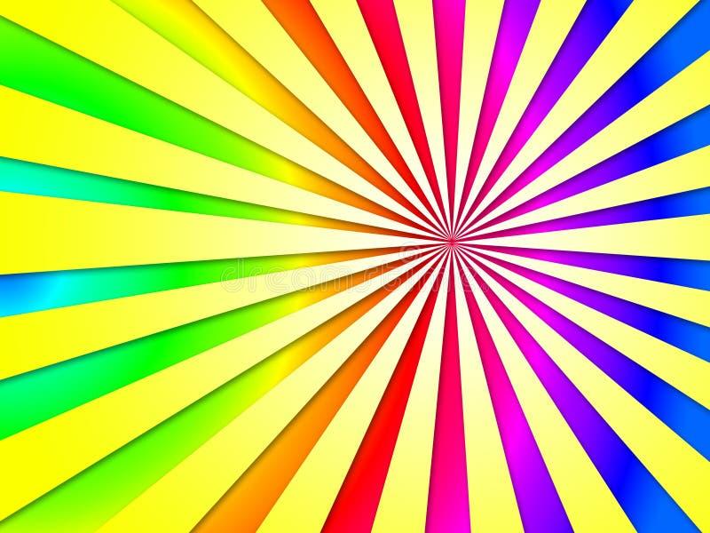 Bunter Dizzy Striped Tunnel Background Shows Dizzy Illustrati lizenzfreie abbildung