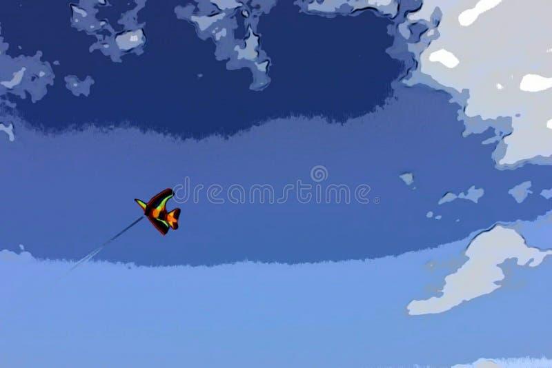 Bunter Drachen im Himmel stockfoto