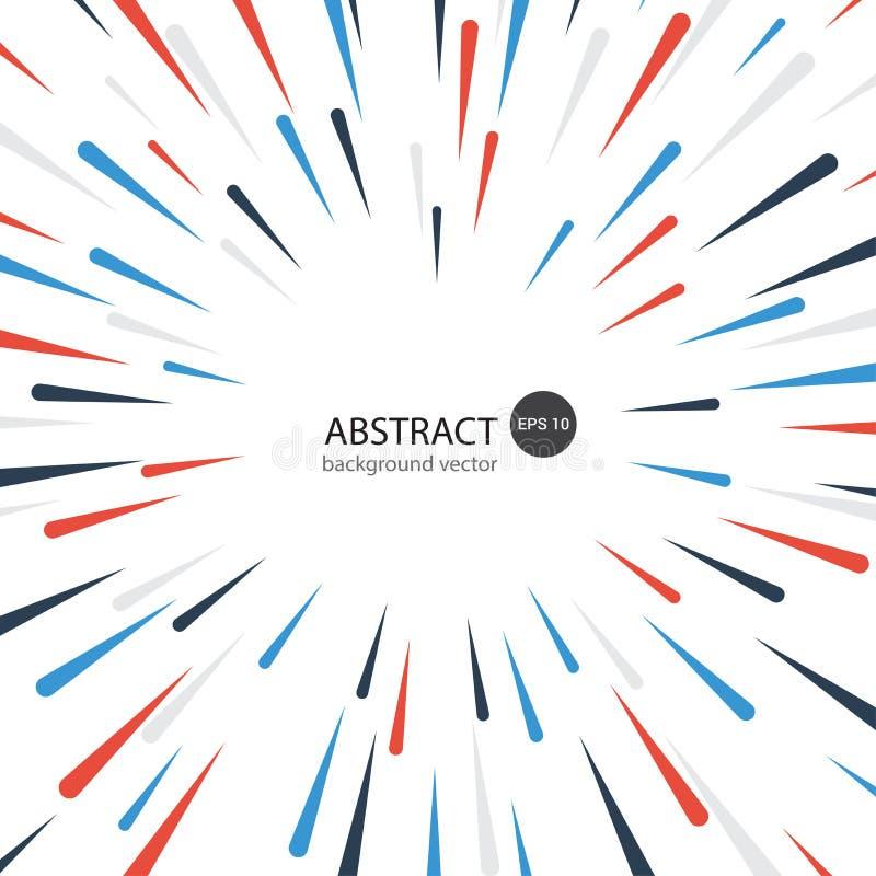 Bunter dynamischer abstrakter Geometrie-Element-Hintergrund mit der Zusammensetzung gemacht von den verschiedenen abgerundete For vektor abbildung