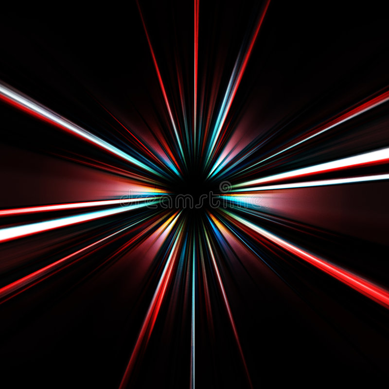 Bunter explodierender Stern stock abbildung