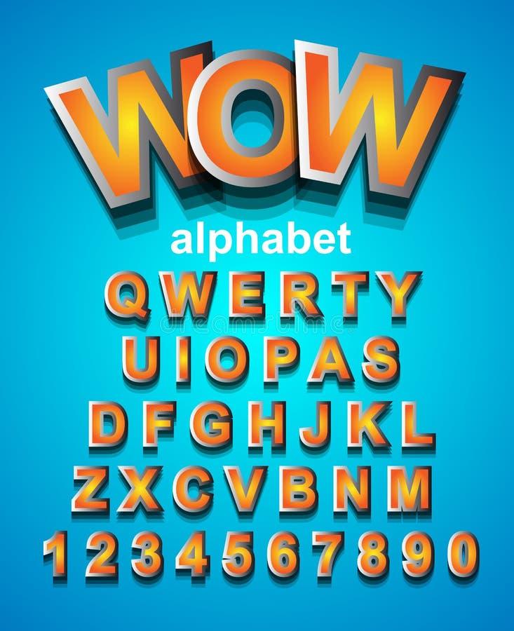 Bunter für Kinderpartyeinladung zu verwenden Alphapet-Guss, lizenzfreie abbildung