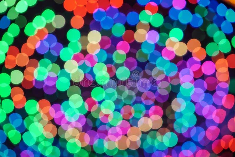Bunter Farblichtunschärfe bokeh Hintergrund unscharf stockfotografie