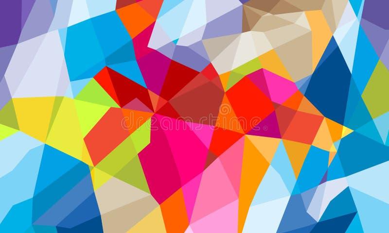 Bunter geometrischer abstrakter Hintergrund des Dreiecks stock abbildung