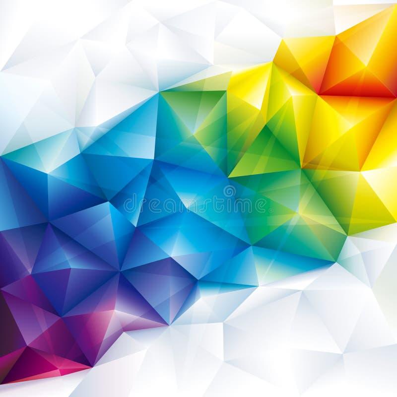 Bunter geometrischer Hintergrund stock abbildung