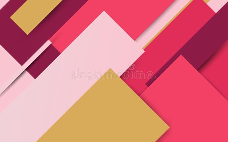 Bunter geometrischer minimaler Arthintergrund der Zusammenfassung Illustration Vektor stock abbildung