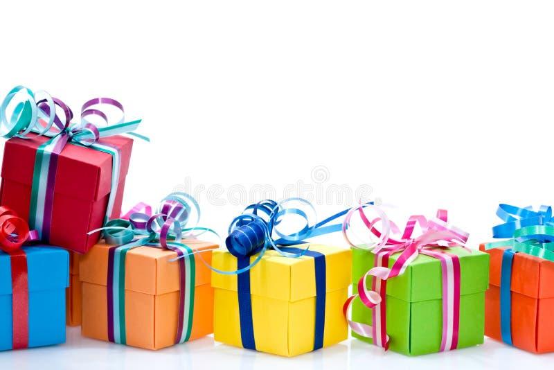 Bunter Geschenkkasten lizenzfreie stockfotografie