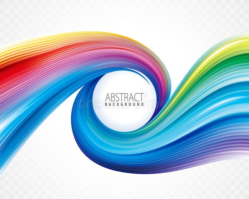 Bunter gewundener abstrakter Hintergrund vektor abbildung