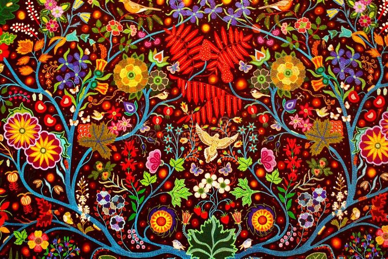 Bunter handgemachter traditioneller Wolldeckengewebe-Zusammenfassungshintergrund stockfoto