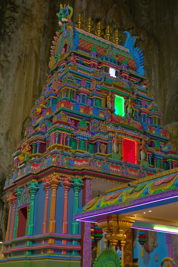 Bunter hindischer Tempel innerhalb Batu-H?hlen Gombak Selangor Malaysia stockfotos