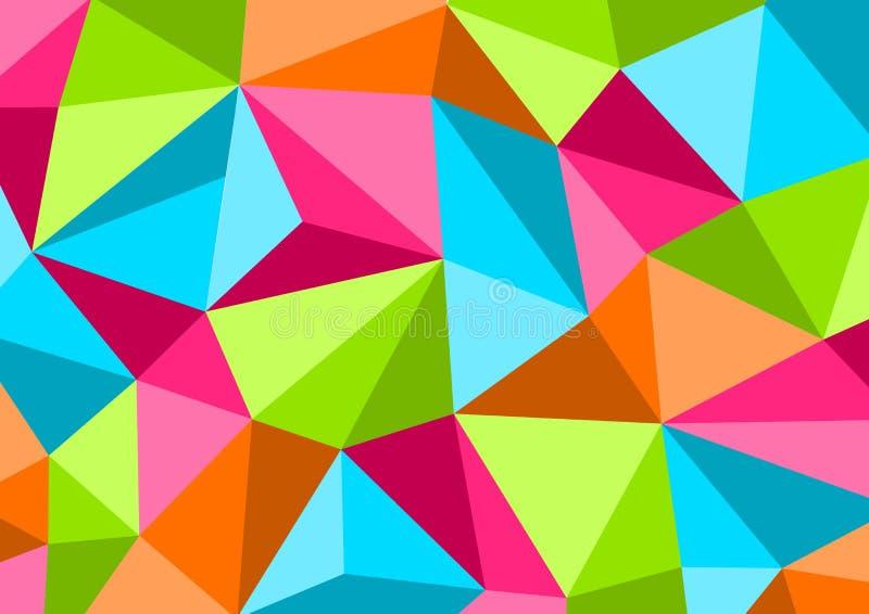 Bunter Hintergrund Art im niedrigen Poly-, geometrischen Muster Vektor vektor abbildung