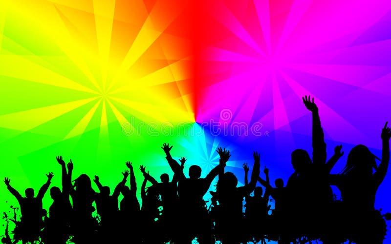 Bunter Hintergrund der Discopartei lizenzfreies stockbild