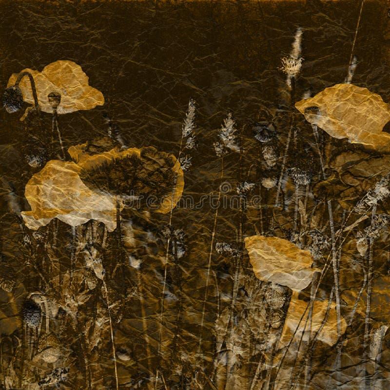 Bunter Hintergrund der Kunstblumenweinlese vektor abbildung