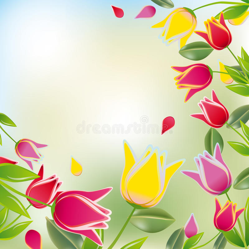 Bunter Hintergrund der Tulpe lizenzfreie abbildung