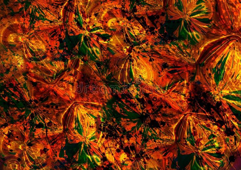 Bunter Hintergrund des abstrakten Blumeneffektes lizenzfreie abbildung