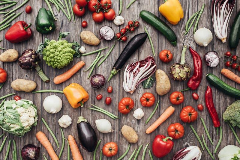 Bunter Hintergrund des Gemüses stockfotos