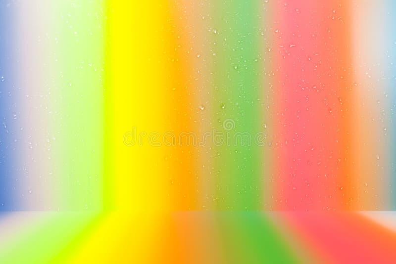 Bunter Hintergrund des schönen Farbtropfen-Wassers vektor abbildung