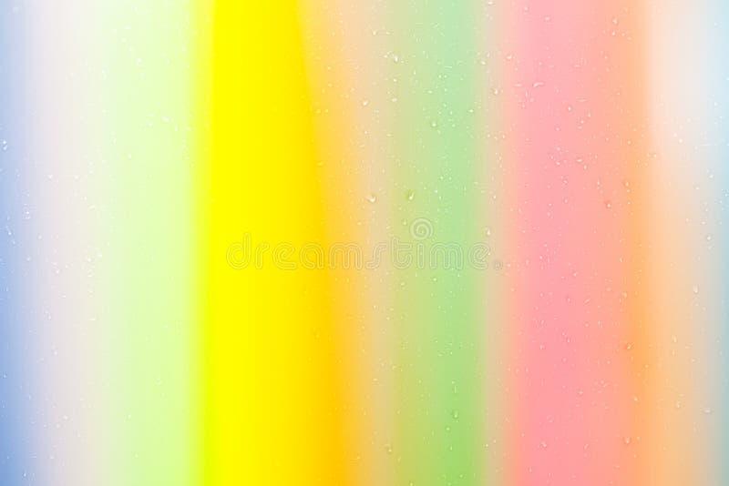 Bunter Hintergrund des schönen Farbtropfen-Wassers lizenzfreie abbildung