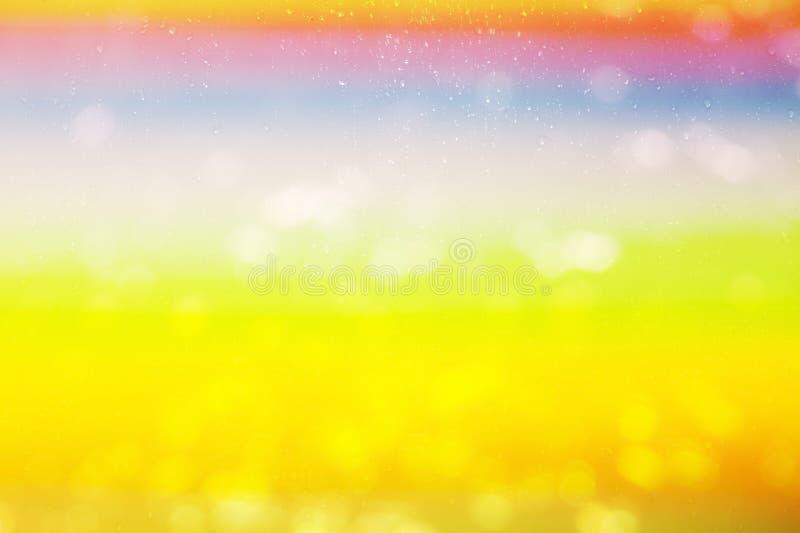 Bunter Hintergrund des schönen Farbtropfen-Wassers stock abbildung