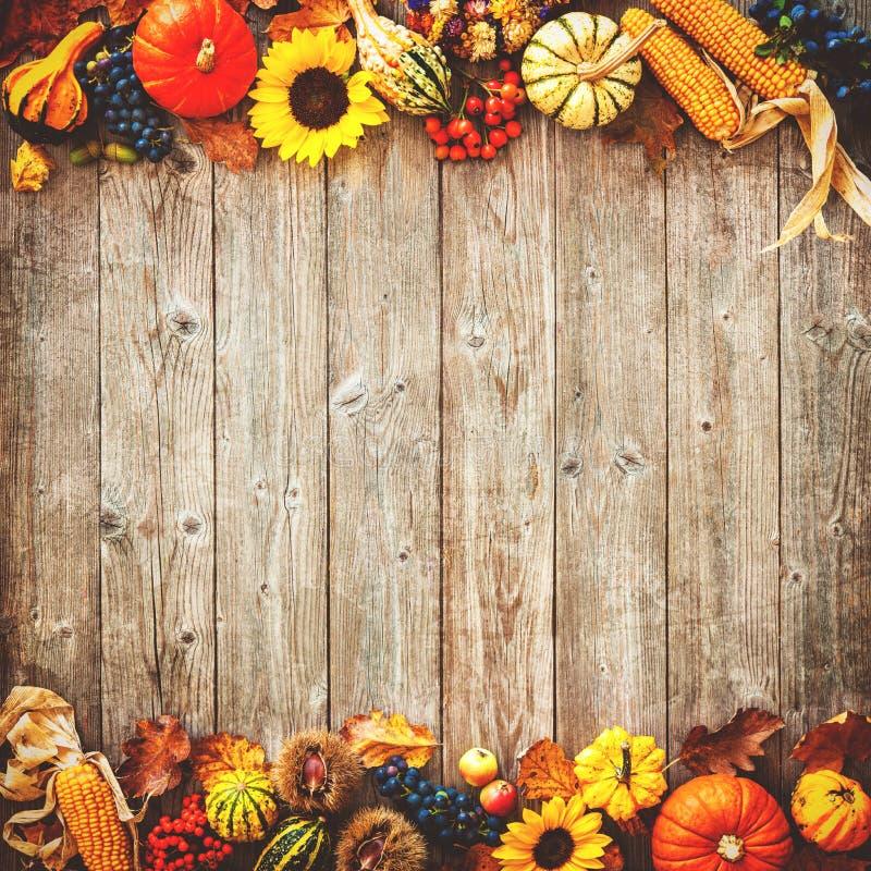 Bunter Hintergrund für Halloween und Danksagung lizenzfreie stockfotos