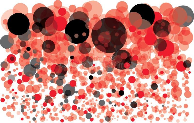 Bunter Hintergrund mit Luftblasen lizenzfreie abbildung