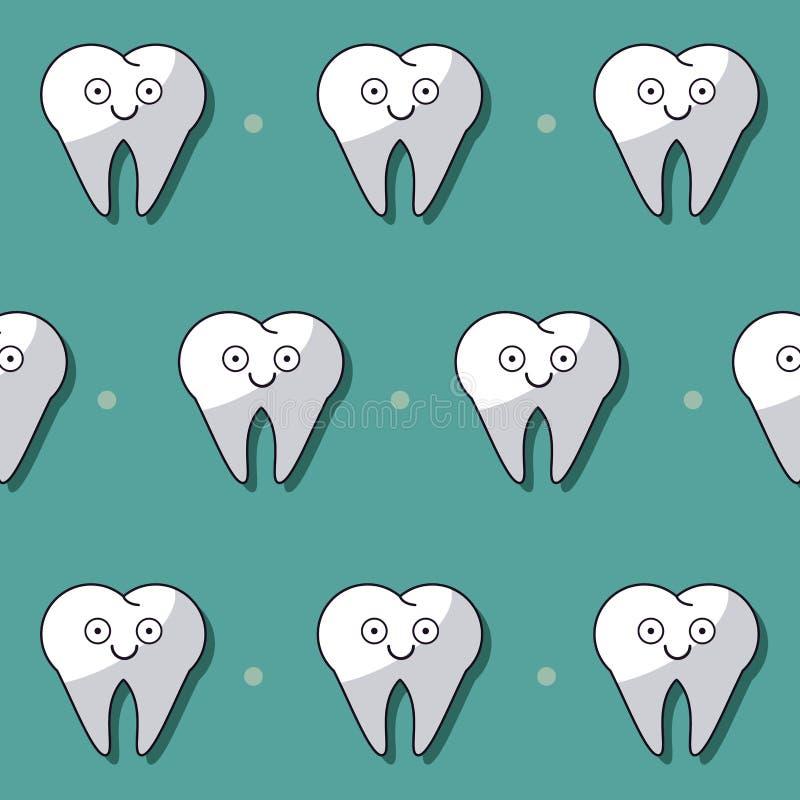 Bunter Hintergrund mit Muster von den Zähnen belebt vektor abbildung