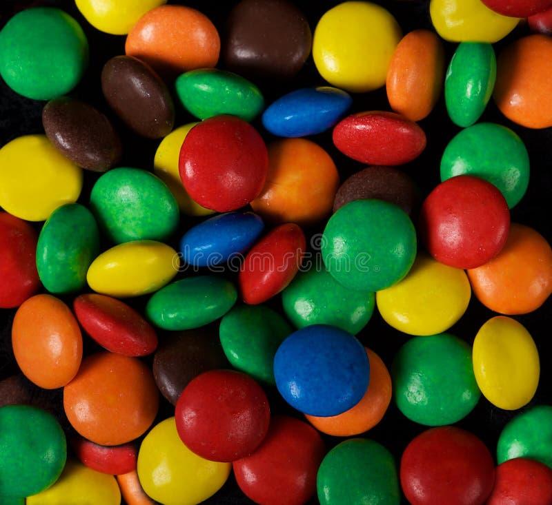 Bunter Hintergrund Süßigkeit Mehrfarbiger Hintergrund Farben Bunte Bonbons Süßer Lebensmittelhintergrund Wüste stockfotos