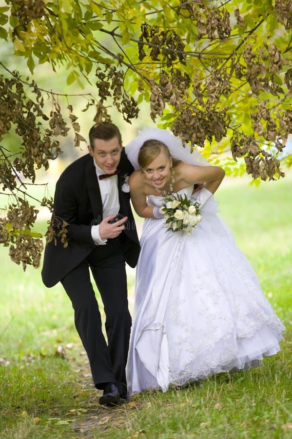 Bunter Hochzeitsschuß stockfotos