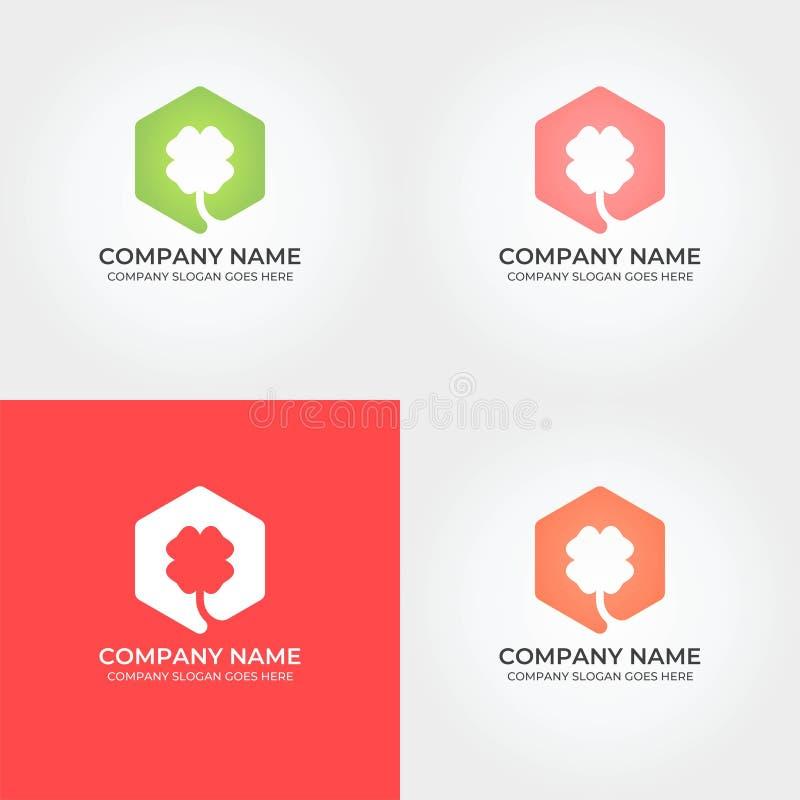 Bunter Klee Logo Icon Template vektor abbildung