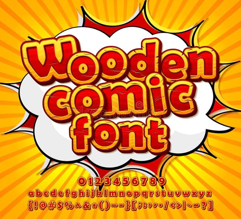 Bunter komischer Guss, Alphabet Comicsbuch, Pop-Art vektor abbildung
