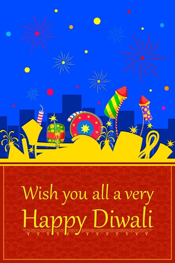 Bunter Kracher für glückliches Diwali lizenzfreie abbildung