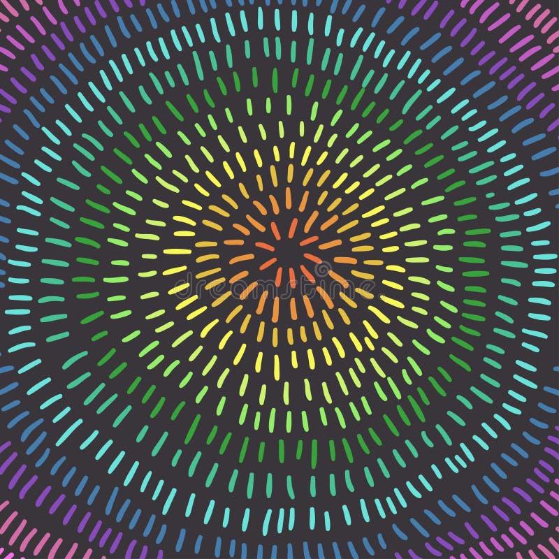 Bunter Kreis Kunst Abstrakter Hintergrund, Regenbogenfarben lizenzfreie abbildung