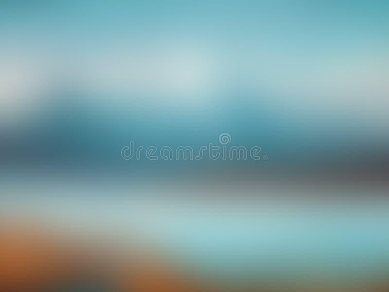 Bunter leicht blauer und gelber abstrakter Hintergrund mit Vignette Abbildung lizenzfreies stockfoto