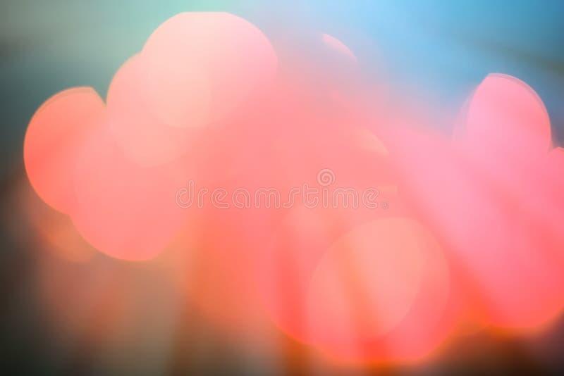 Bunter Lichter bokeh Hintergrund lizenzfreie abbildung